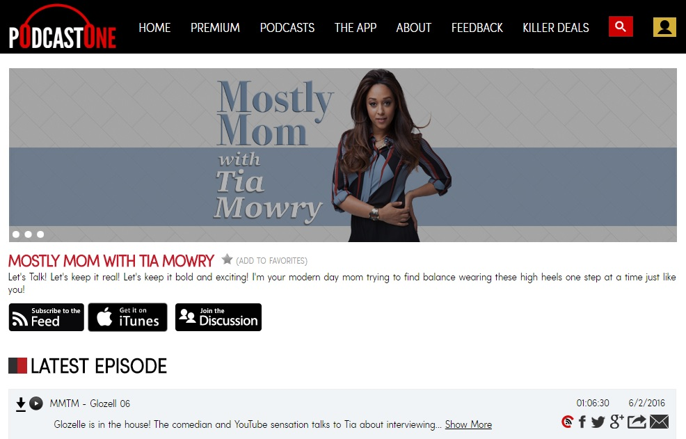 Mostly Mom Podcast with Tia Mowry