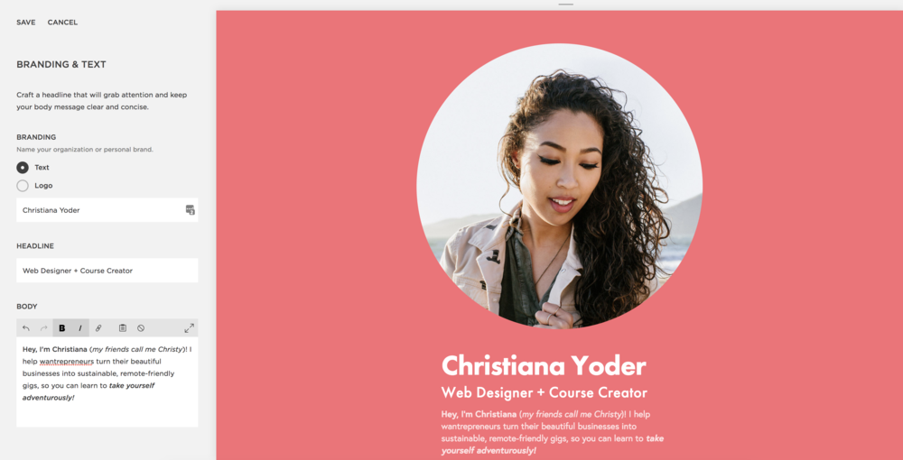 Squarespace - Branding and Text 1 - Christy Yoder - East End Mag