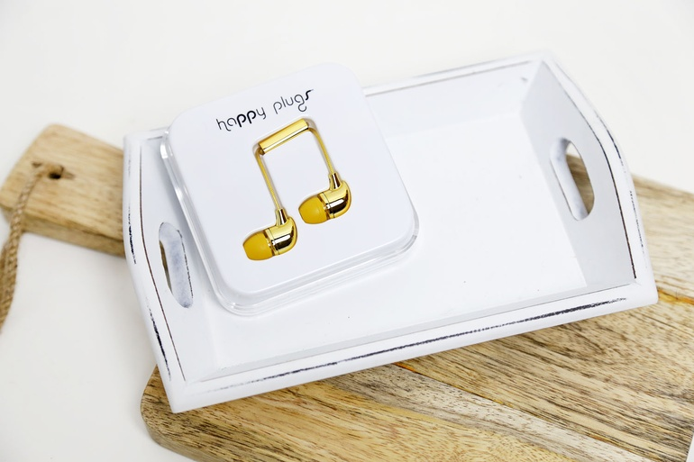 Gold Happy Plug Earphones