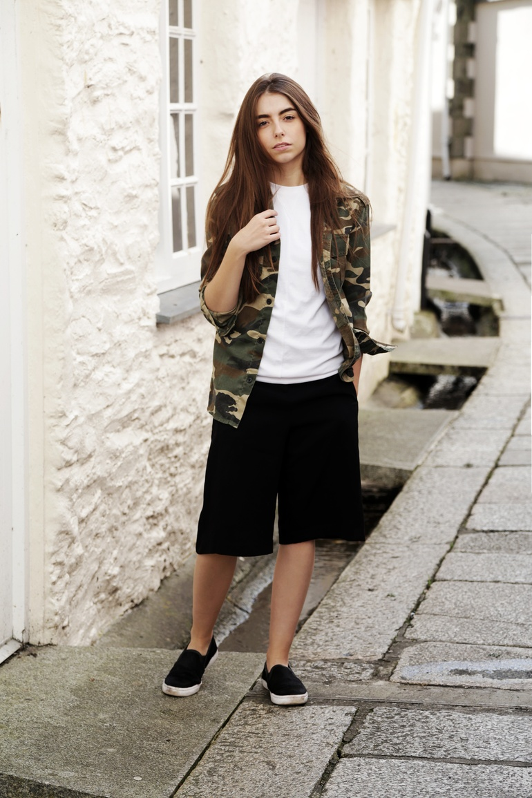 Camoflage and culottes