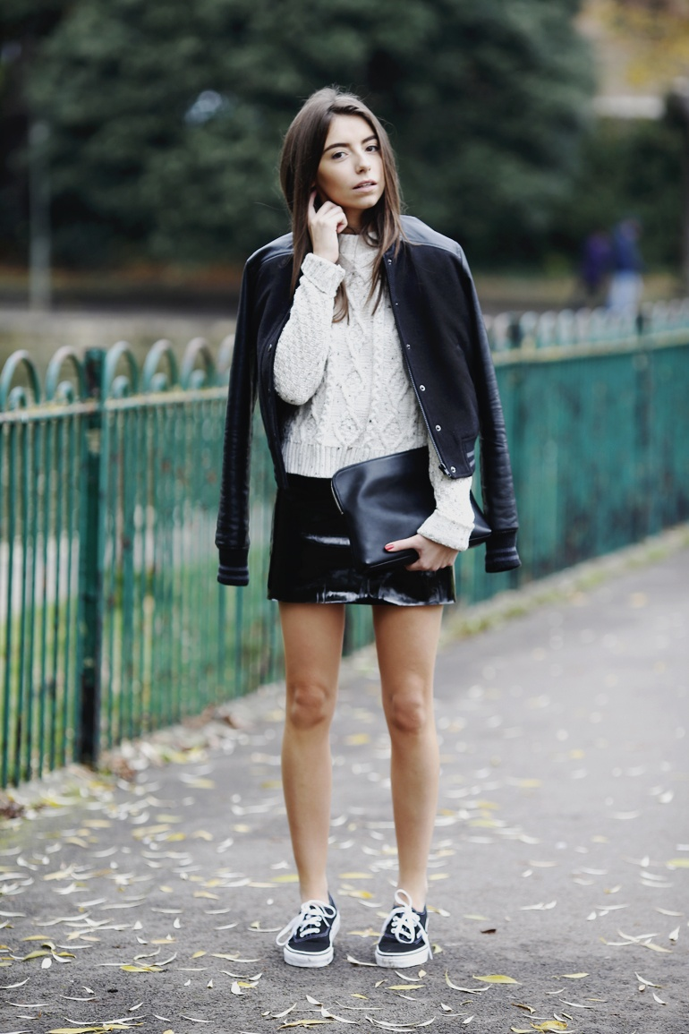 PVC skirt fashion