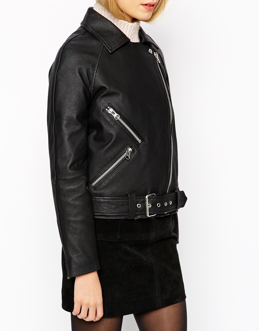 ASOS Boxy Leather Jacket