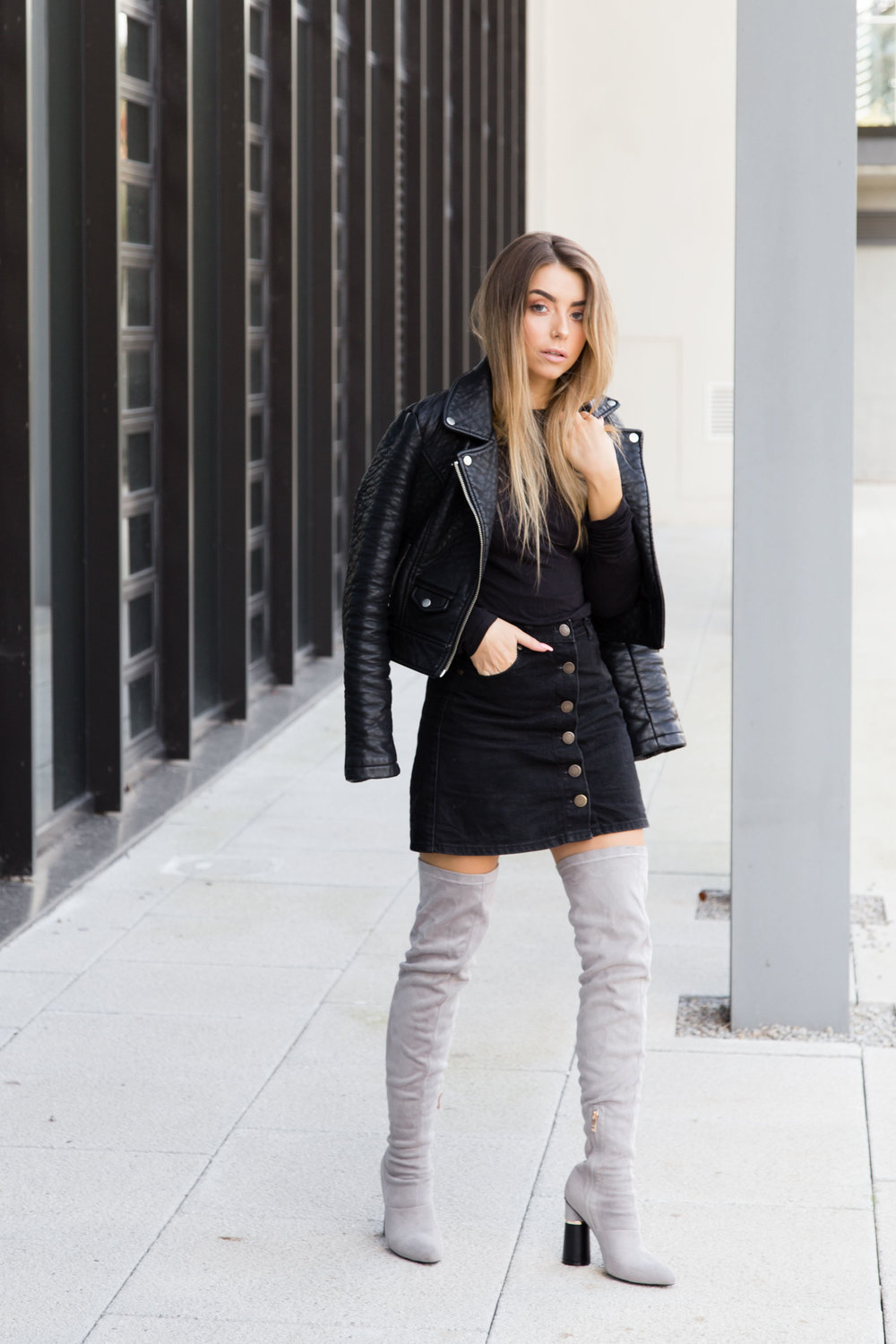 How to style knee high boots