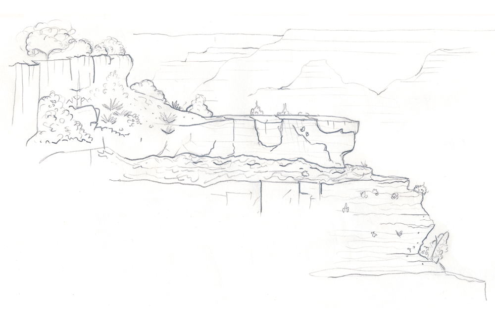 A quick sketch I did of the Grand Canyon