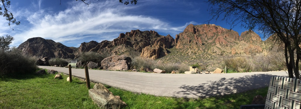 View from Chisos Basin at Big Bend