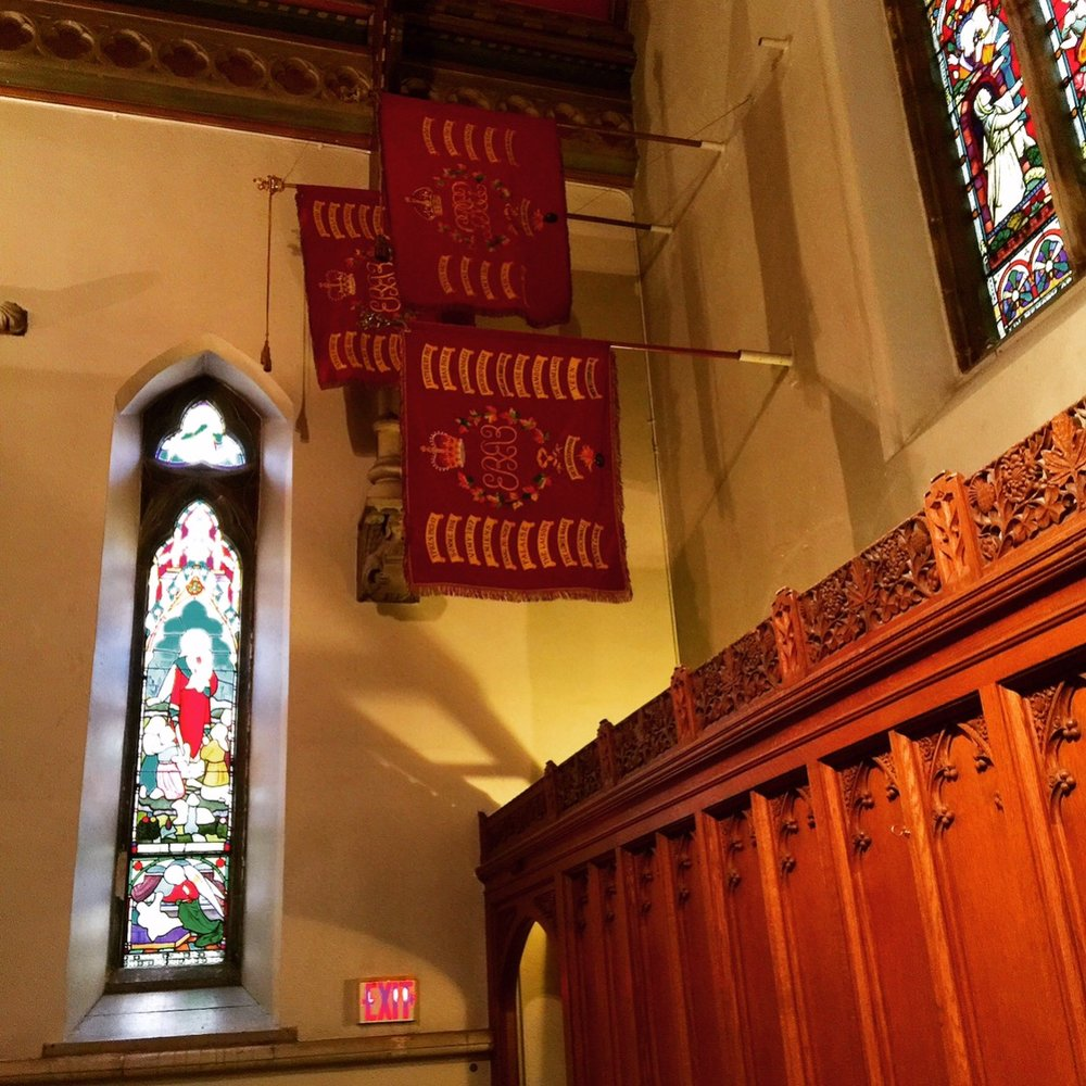 Retired regimental colours, Christ Church, Montreal