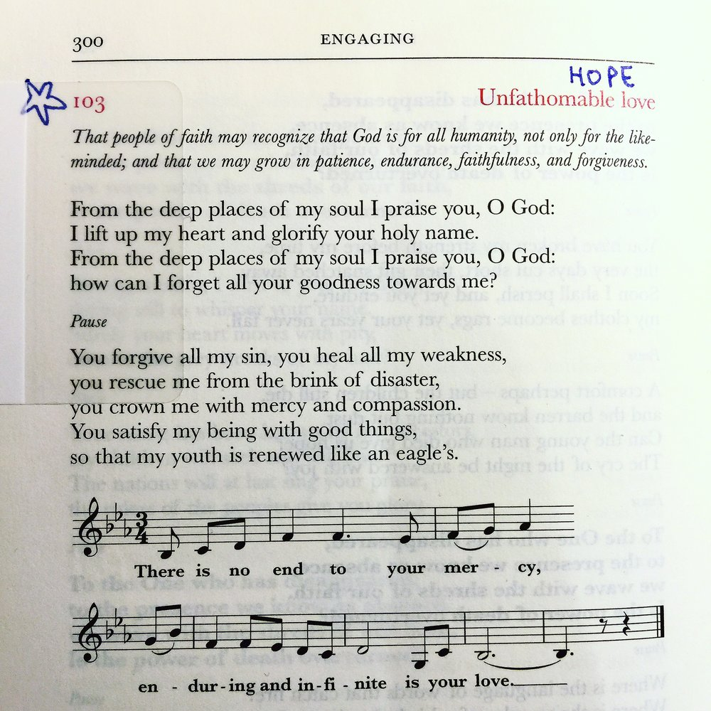 An improvisation on Psalm 103 by Jim Cotter in his prayer book,  Out of the Silence ...