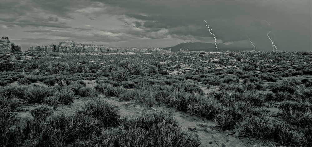 Thunderstruck (black & white)