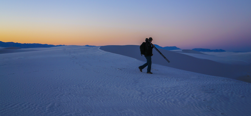 Scoping out White Sands National Monument at Dusk