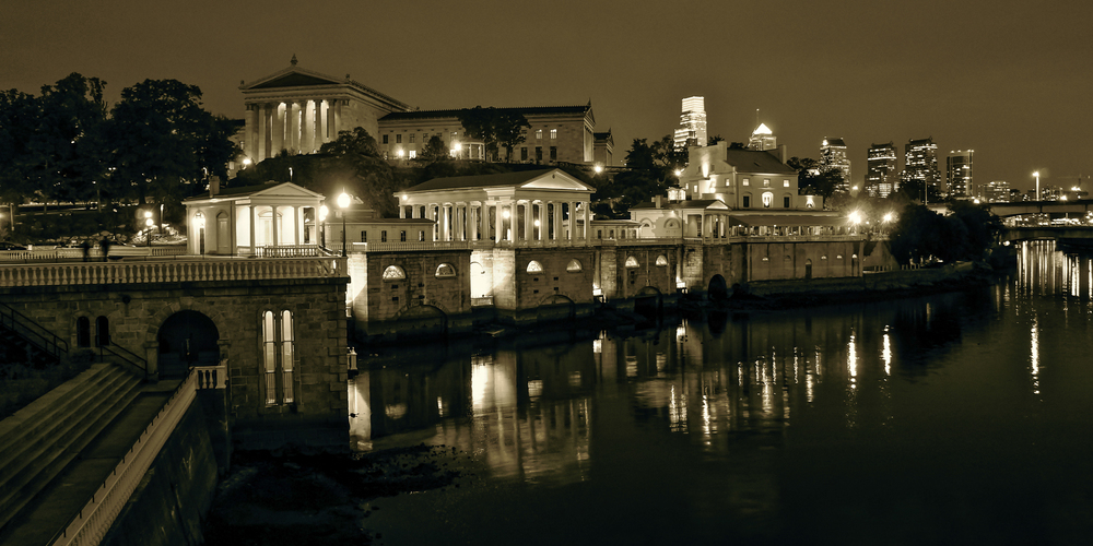 Waterworks at Night