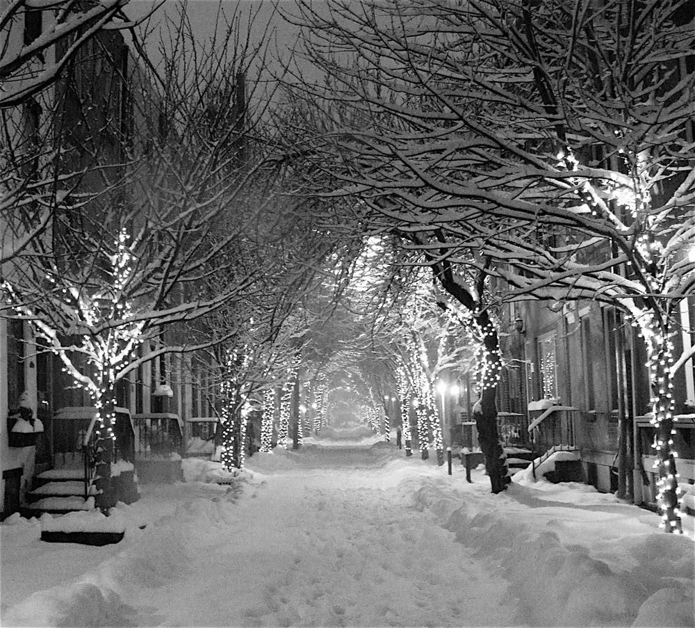 Addison Street in Snow
