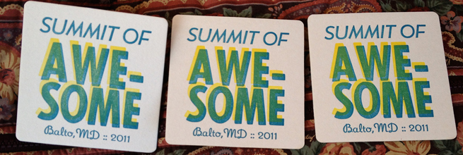 Summit of Awesome Letterpress Cards