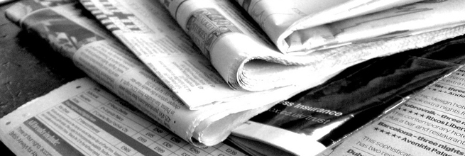 Newspapers B&W (3) by NS Newsflash, on Flickr