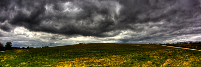 storm cloud over a hill by davedehtre, on Flickr