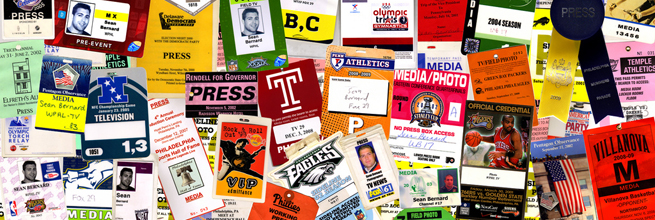 Press Credential Montage by st bernard, on Flickr