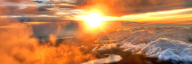 Majestic Sunrise from the Summit of Mount Fuji by Sprengben [why not get a friend], on Flickr