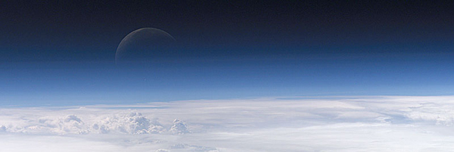 A Blue Crescent Moon by NASA's Marshall Space Flight Center, on Flickr