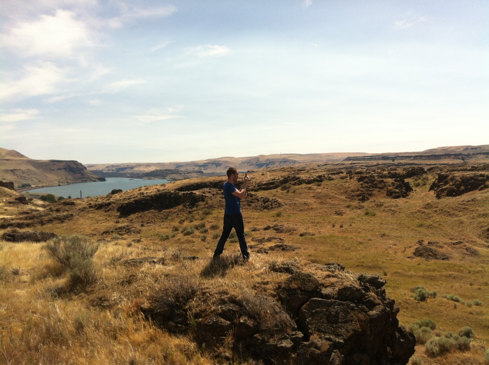 Justin surveys one of the Wishram properties.