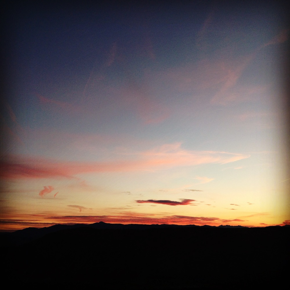 Another solstice sunset (enhanced, of course, by an Instagram filter).