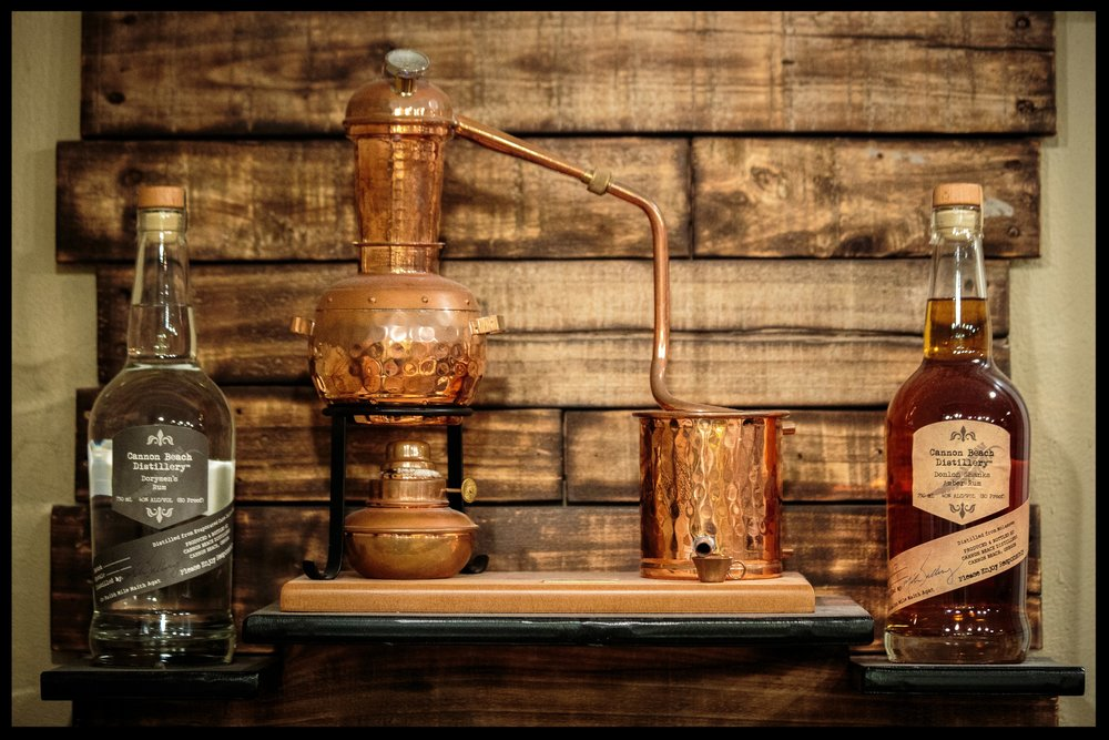 This trophy is from the American Distilling institute. The Donlon Shanks Amber Rum won best in class, all before the business was two years old.