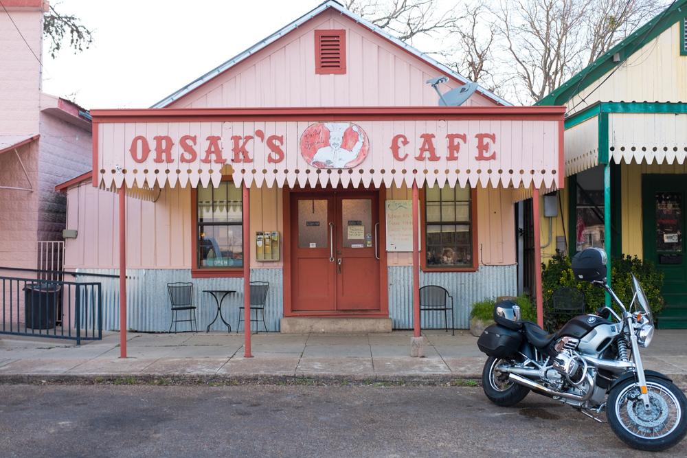 Orsak's World famous cafe.