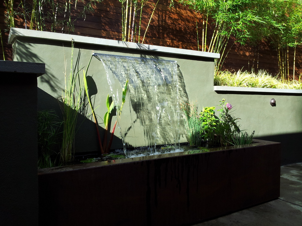 Custom Water Feature - Marin Landscape Architect