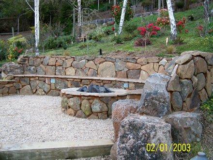 Old Town Wallrock.Golden Bear - Marin Landscape Designer