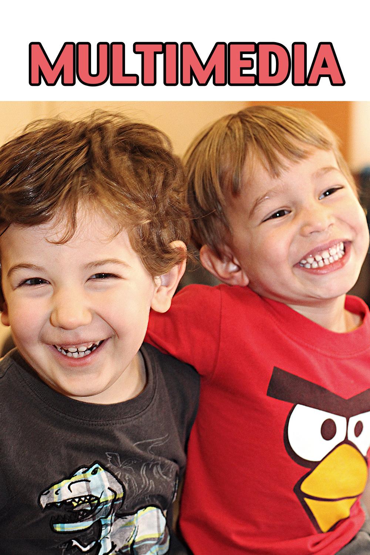Toddlers inside their preschool classroom.