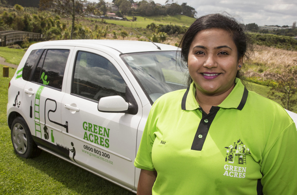 Naz Shazmaani, Green Acres home cleaning franchise owner