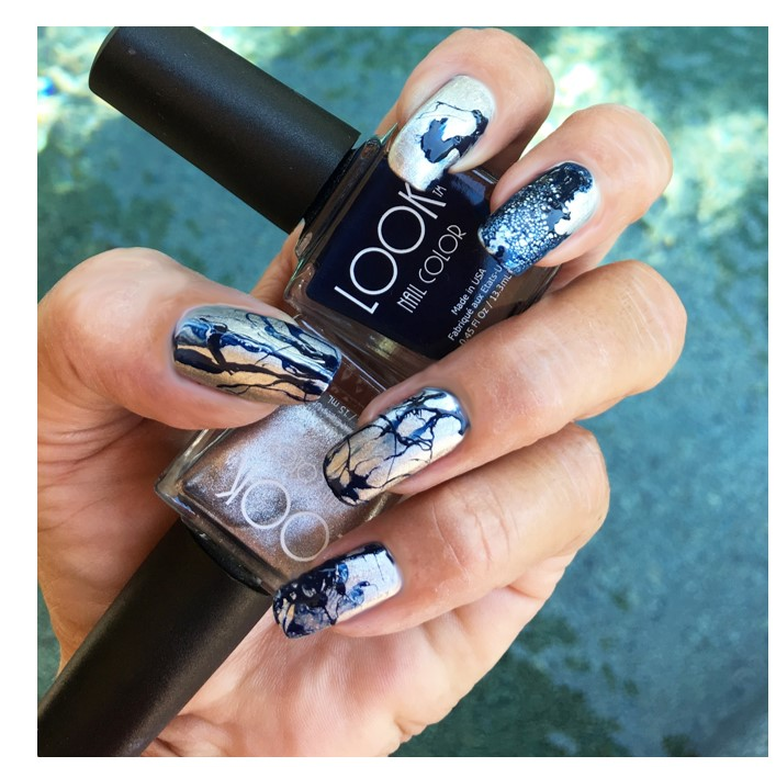 Create ABSTRACT Nail Art using Hair Spray
