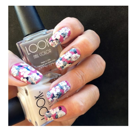 Floral Abstract Nail Art