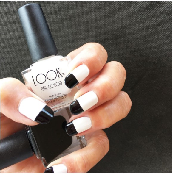 Classic Black and White Nail Art
