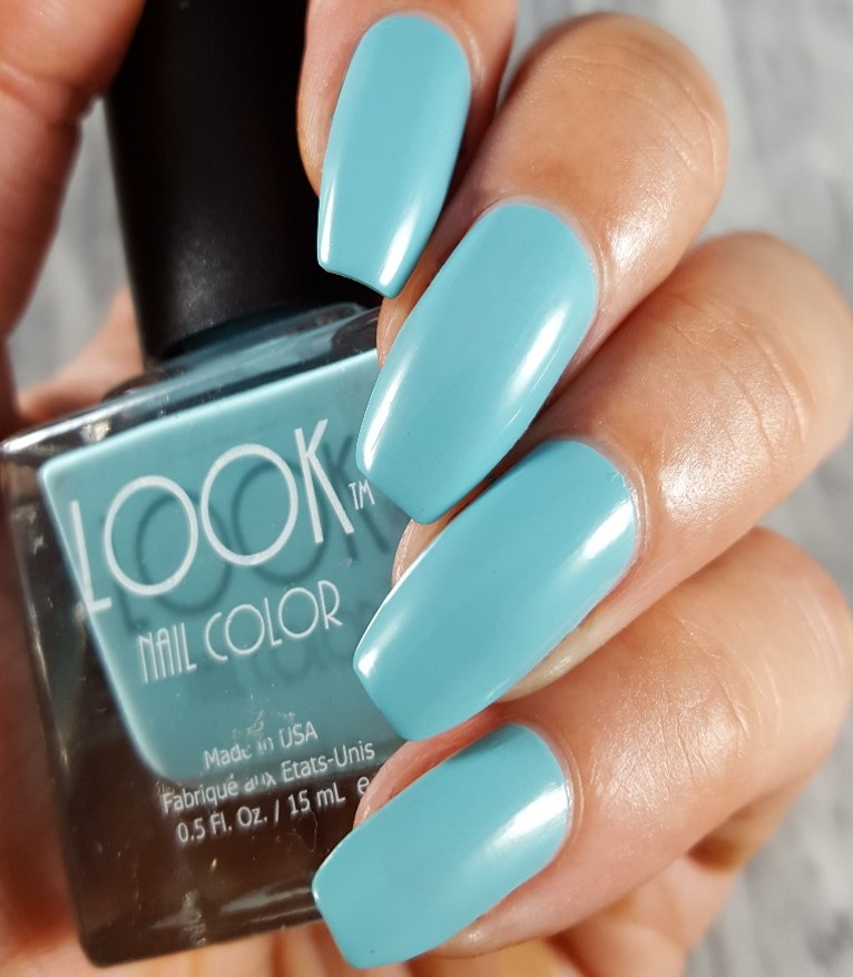 Best Turquoise Nail Color Ever - #011 LOOK Turquoise Nail Polish