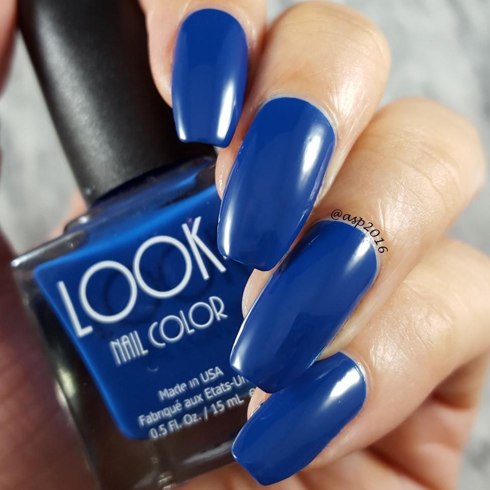 Pure Vibrant TRUE Blue - #010 LOOK Royal Blue Nail Polish — LOOK ...