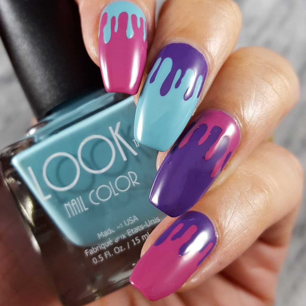 "Nail Art by Arpana using LOOK Nail Color TRIO ""Cool it"""