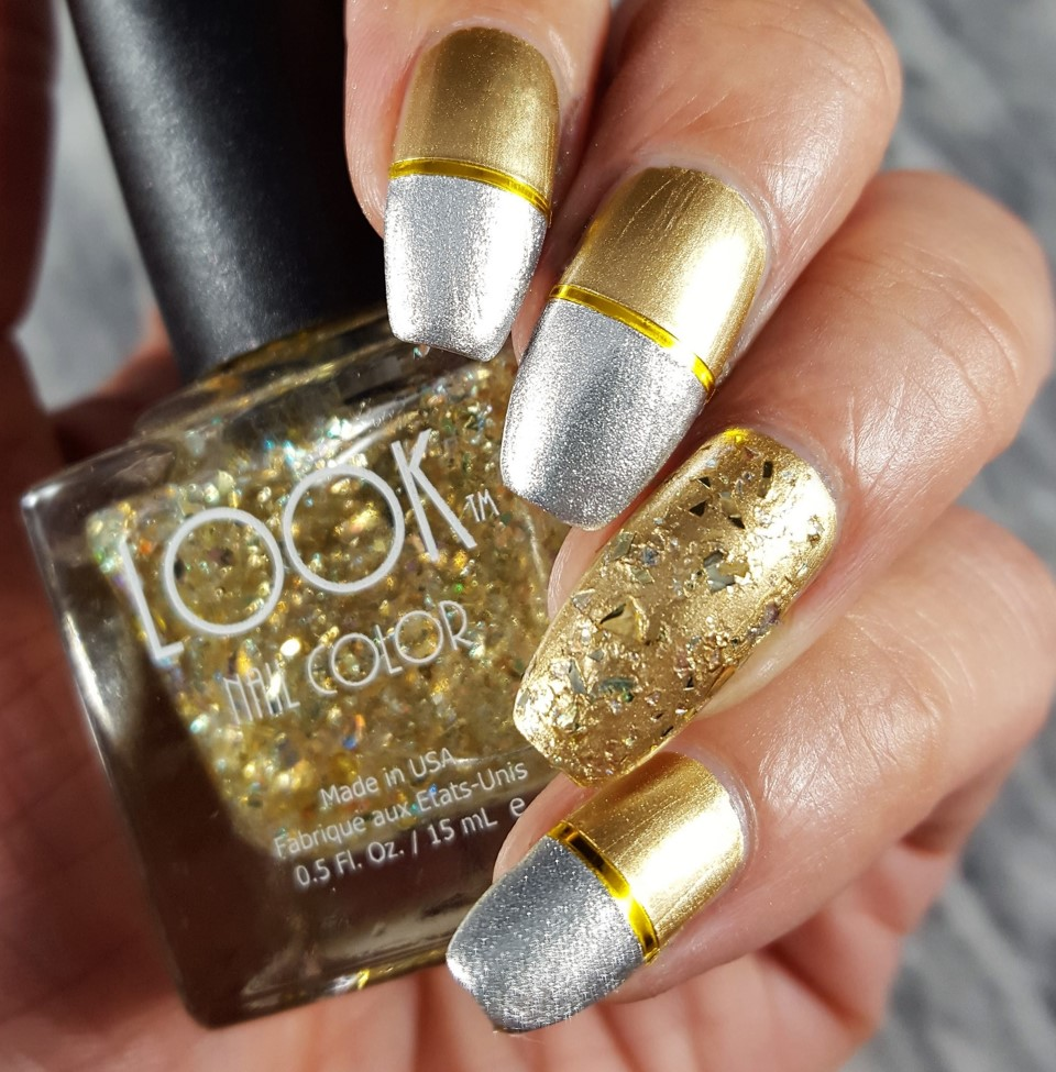 "Nail Art by Arpana using LOOK Nail Color TRIO ""All that Glitters"""