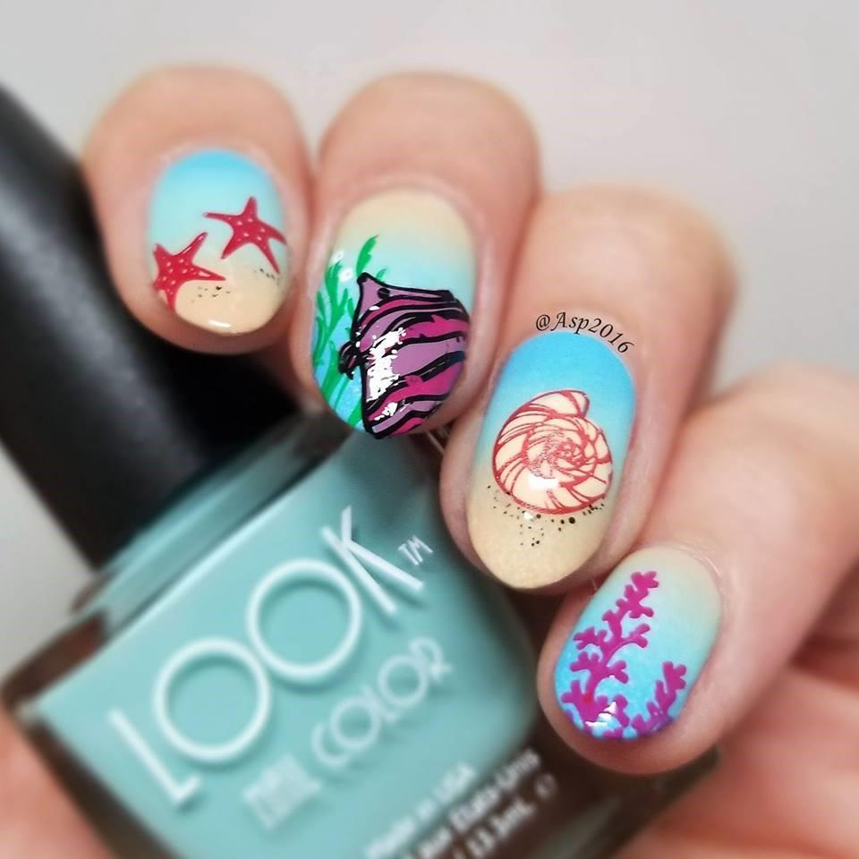BY THE SEA Nail Art by Aparna Gupta