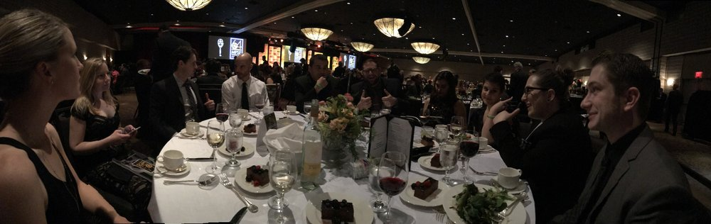 The Boom Box Post table at the 2017 MPSE Golden Reel Awards