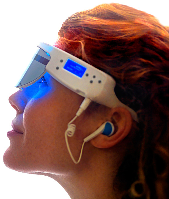 Psio glasses are suggested to treat insomnia, anxiety, hyperactivity, migraines and to boost creativity.