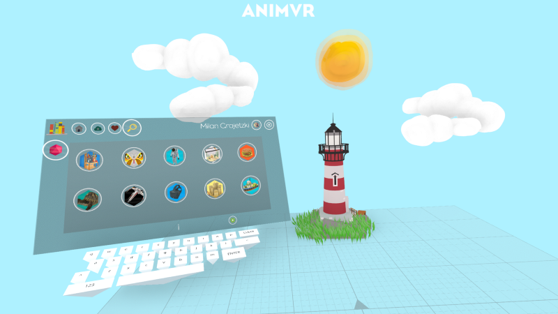 AnimVR allows you to import any 3D model from the  Google Poly  library