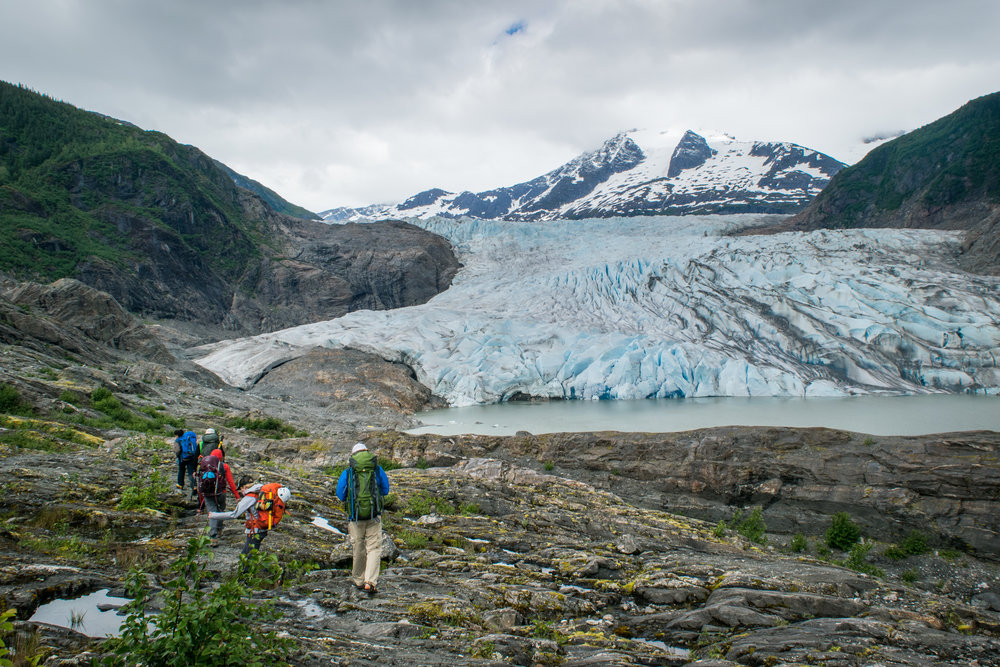 Hiking to the Mendenhall Glacier