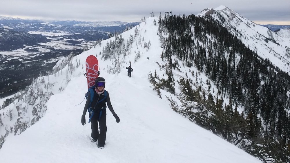 Hiking the ridge at Bridger Bowl!