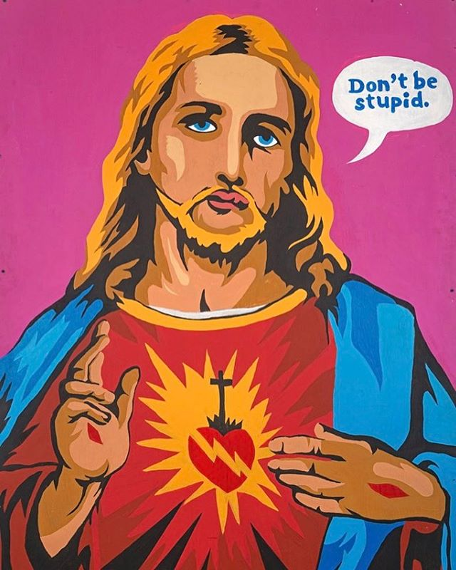 Tbt hand painted Commercial Jesus 2013
