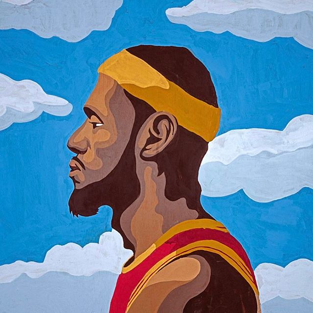 @kingjames Homecoming painting. Also check out gleninfante.bigcartel.com im selling some prints