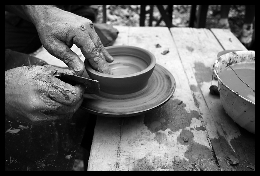 Traditional Romanian pottery workshop