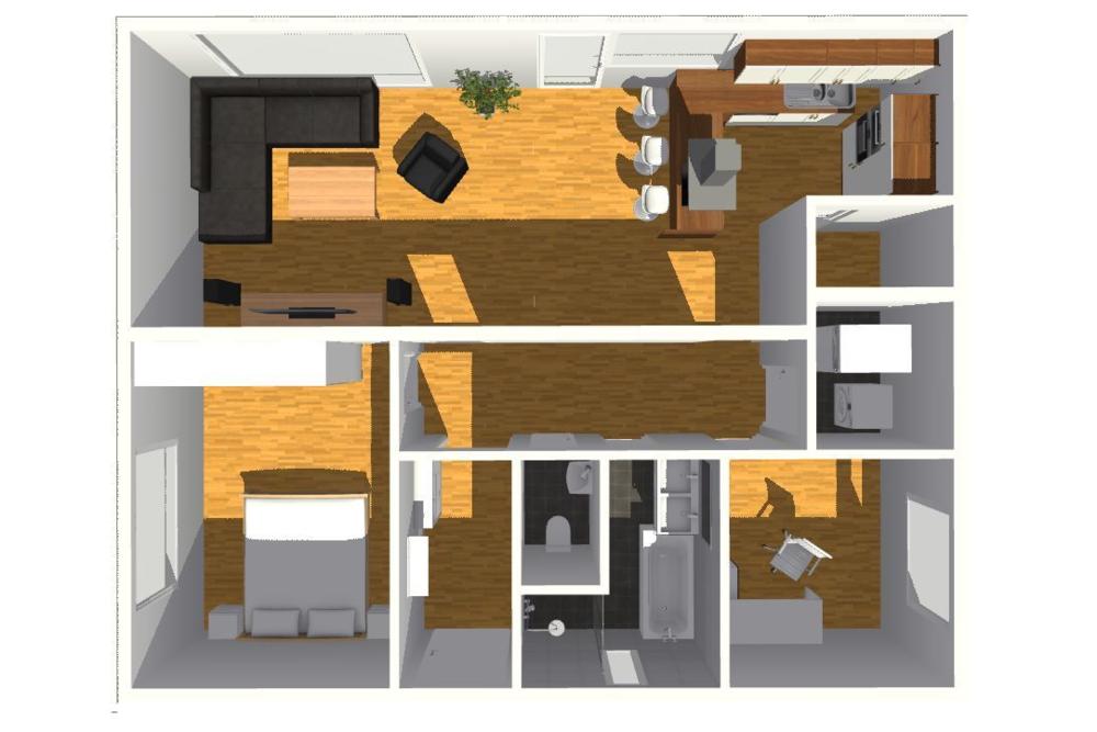 typový projekt A.3 - 71 m2