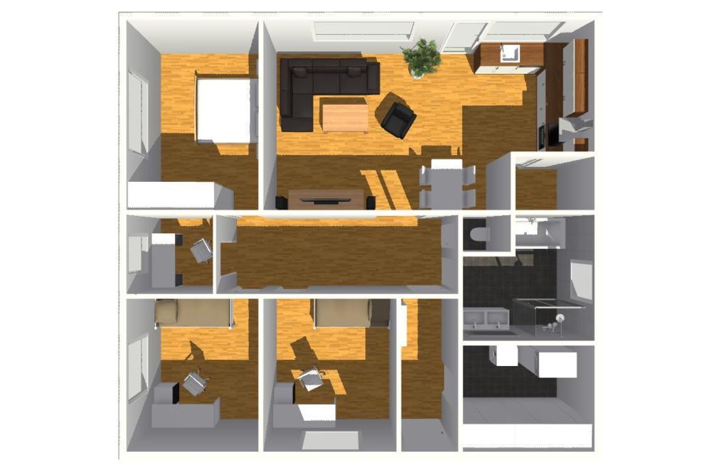 typový projekt A.4 - 90 m2