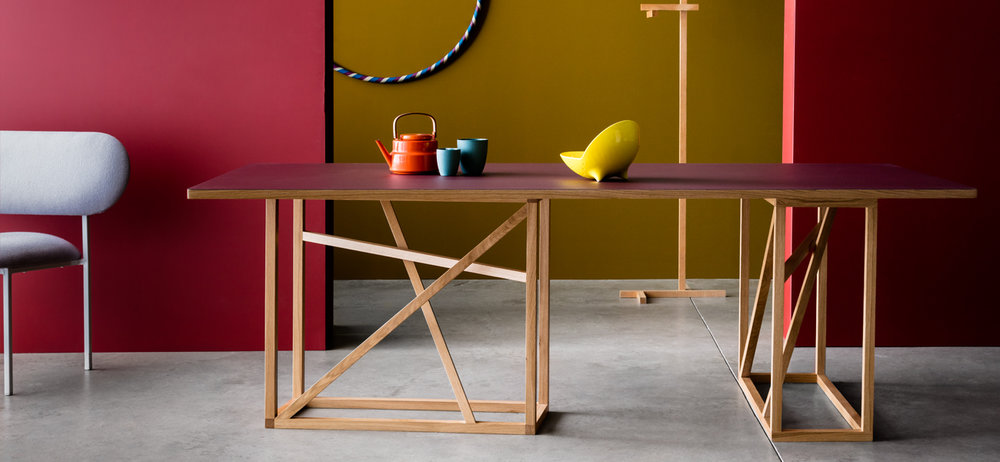 The 1x1 Range by Studiomama...   The 1x1 Trestle, versatile and multifunctional dining table, coffee table & console table   Find out more