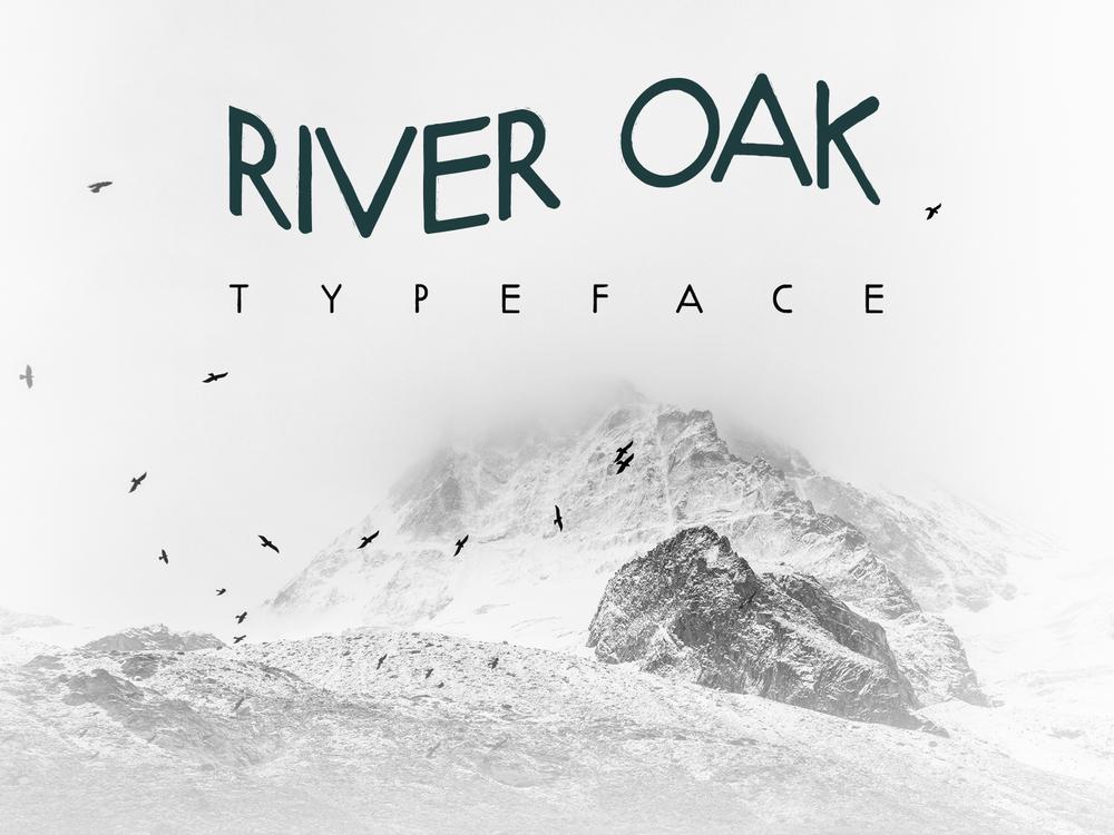 River oak free typeface