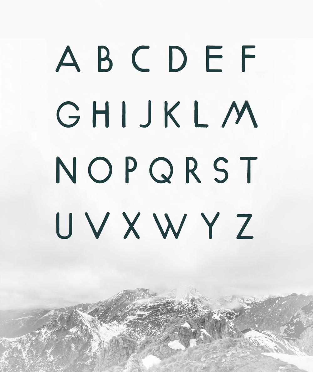 River Oak Free Typeface Letters
